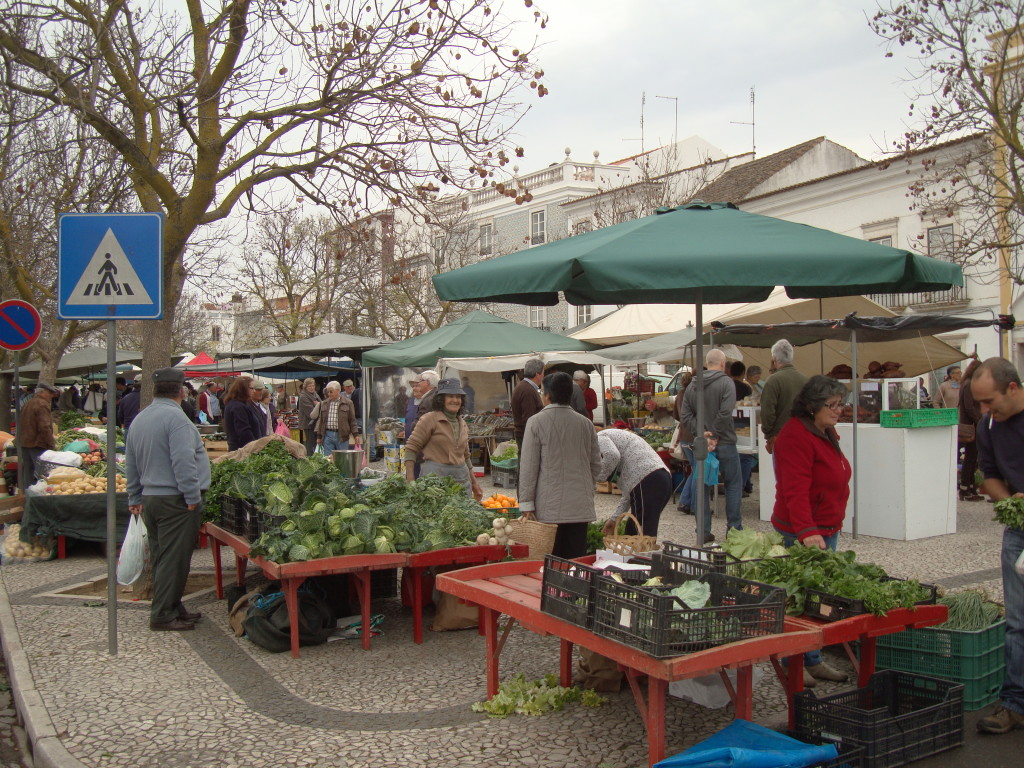 Visiting a farmer's market in Estremoz Portugal